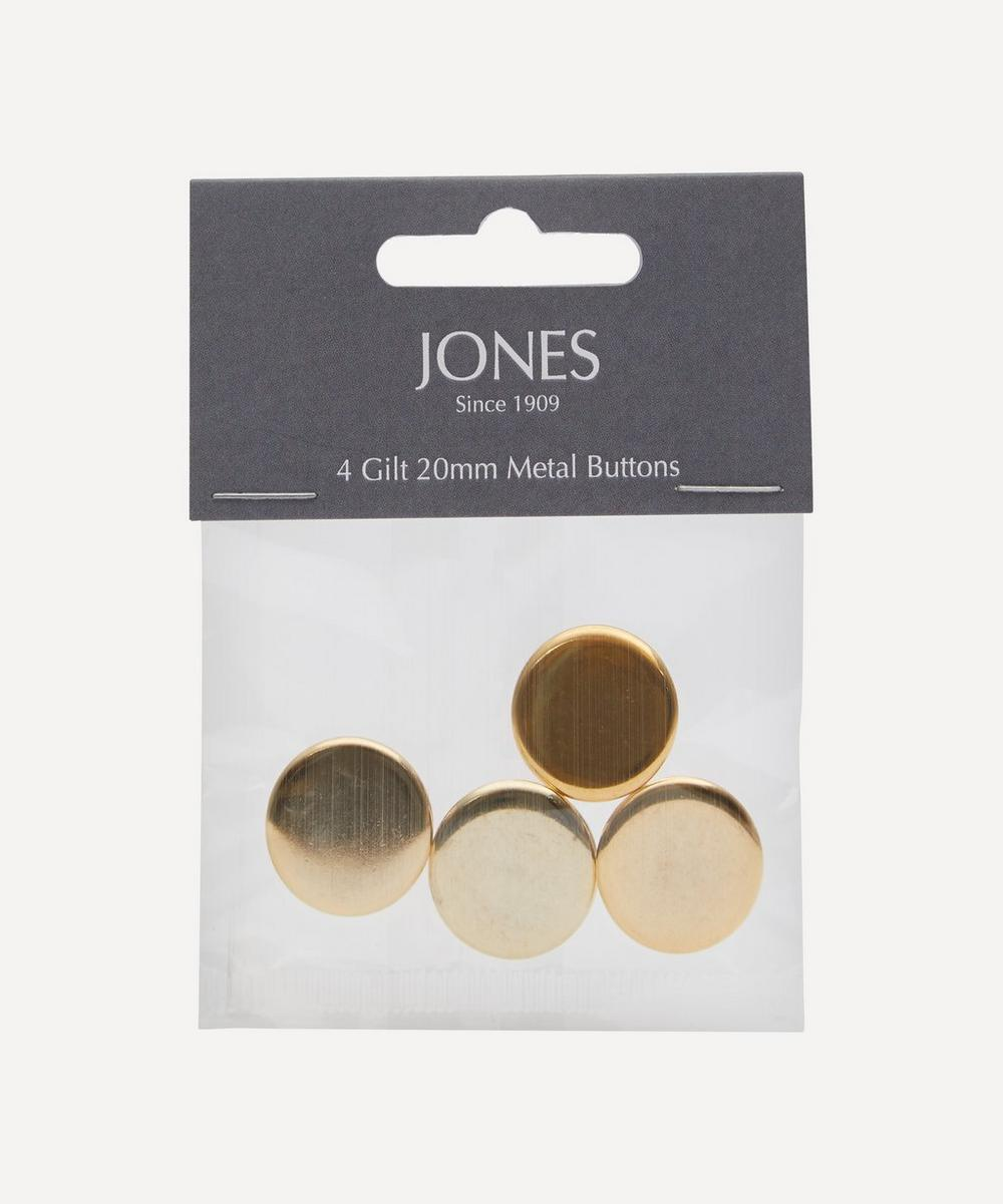 Metal 20mm Blazer Front Buttons ' Pack of 4