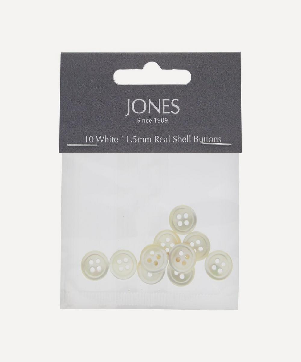 Shell 11.5mm Shirt Buttons ' Pack of 10