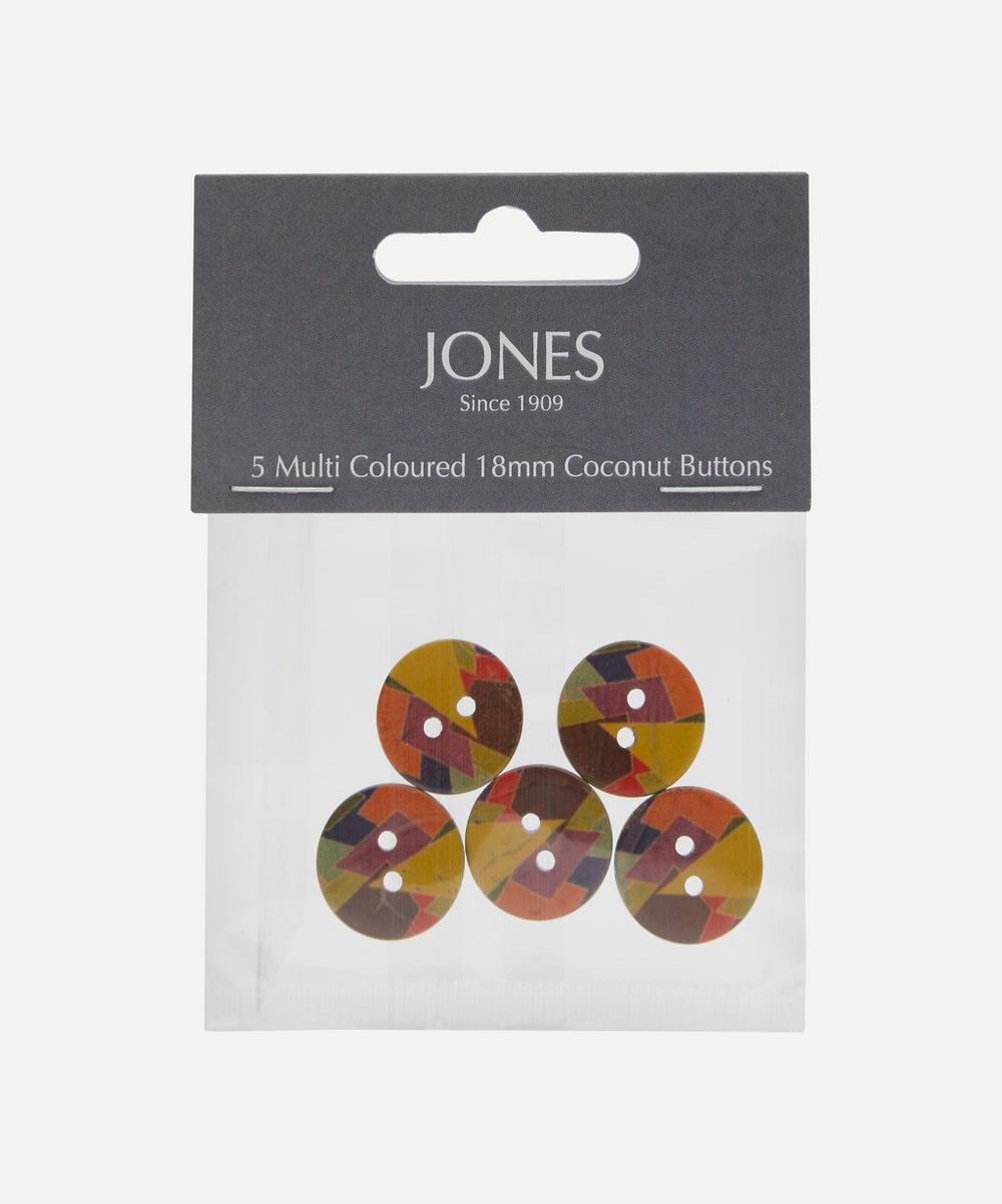 Coconut 18mm Ladies Buttons ' Pack of 5