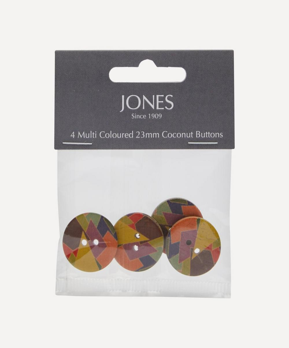 Coconut 23mm Ladies Buttons ' Pack of 4
