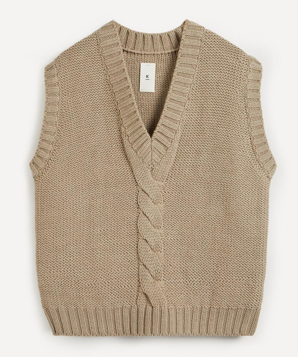 3G Cable-Knit Wool Vest