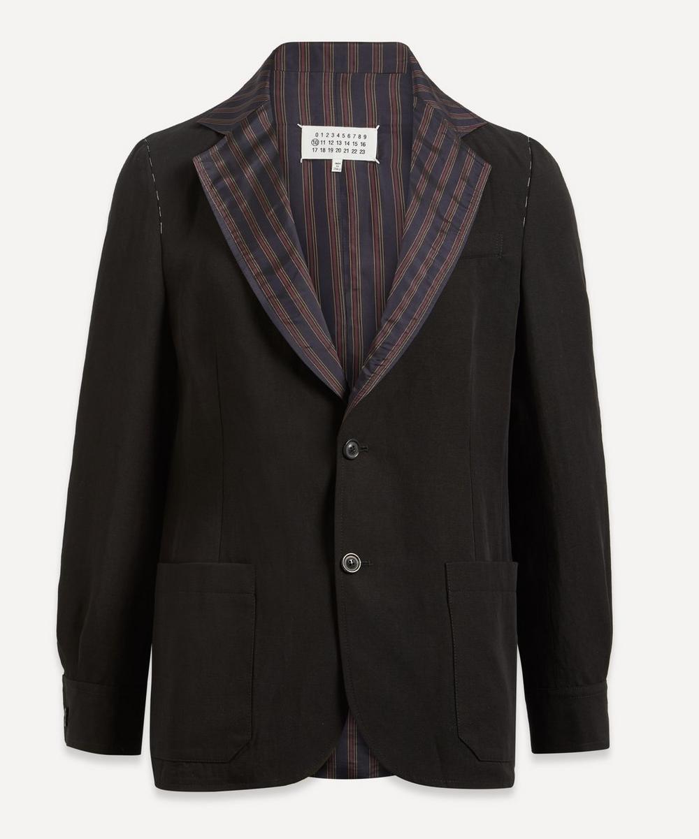 Striped Collar Blazer