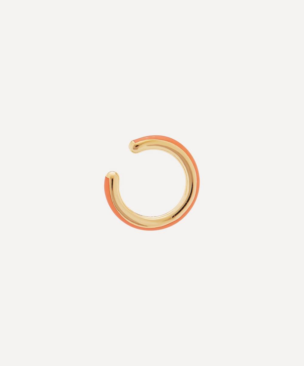 Gold-Plated Cindy Coral Enamel Ear Cuff