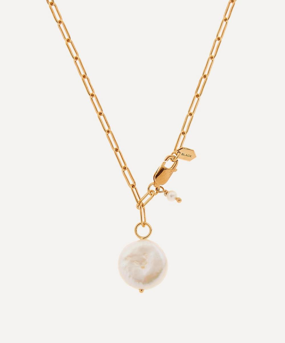 Gold-Plated Alessandria Pearl Necklace