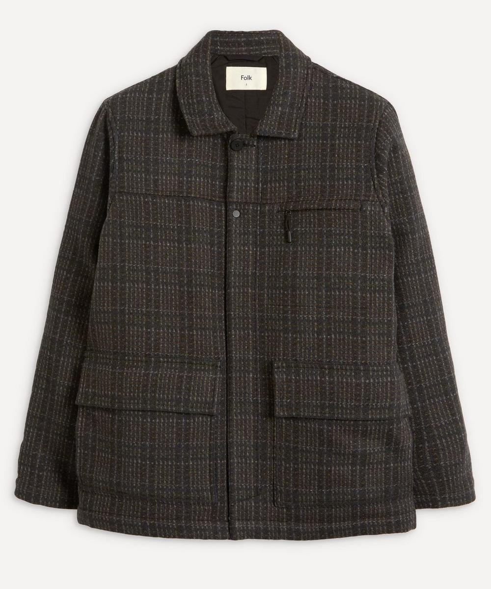 Alber Check Wool Coat