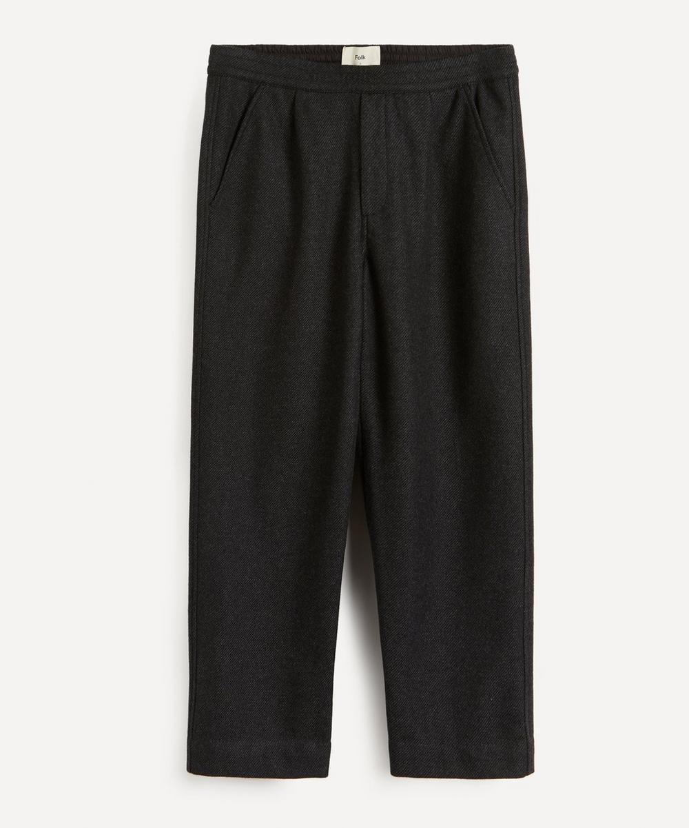 Alber Wool-Twill Drawstring Trousers