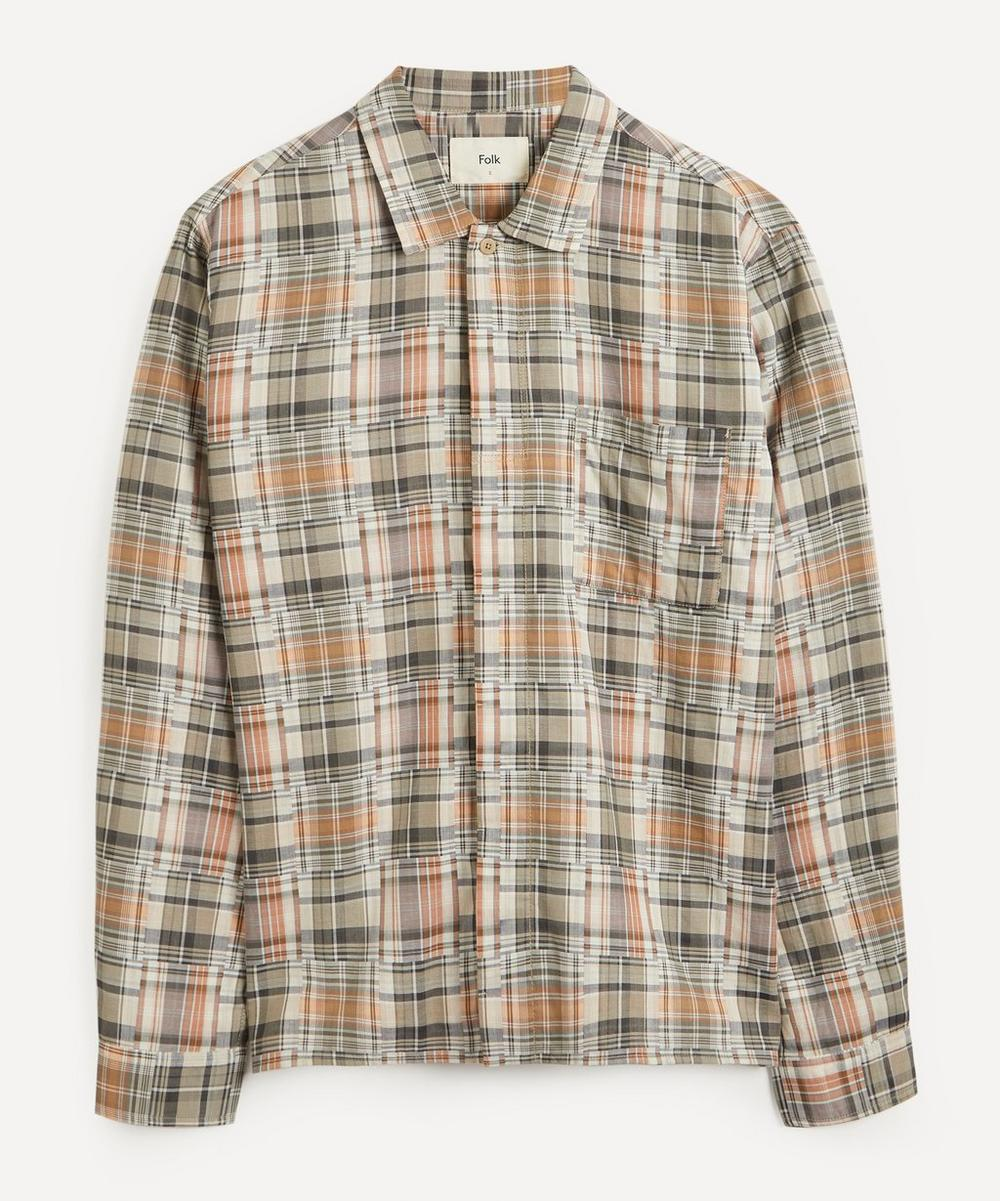Patch Pocket Check Shirt