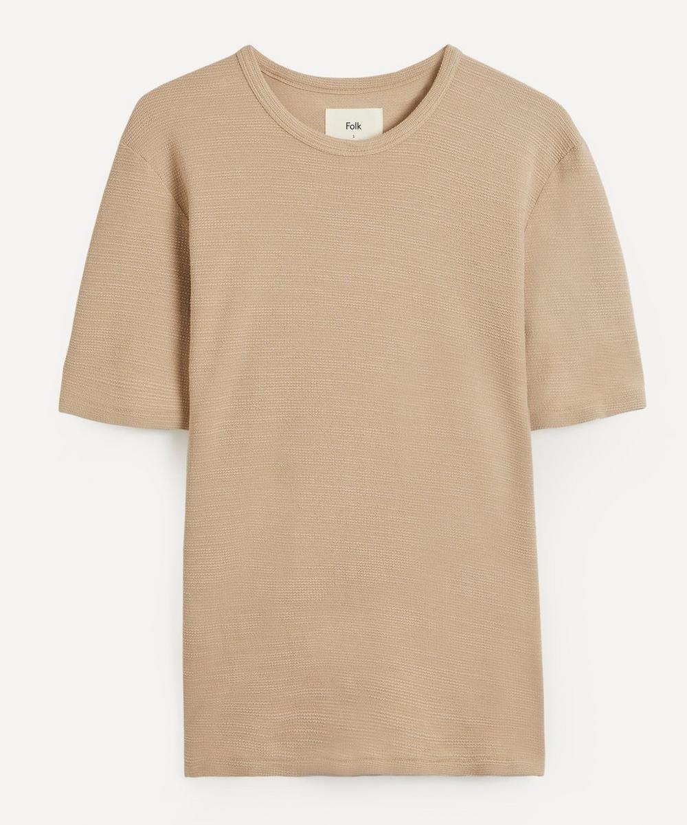 Textured Waffle Organic Cotton T-Shirt