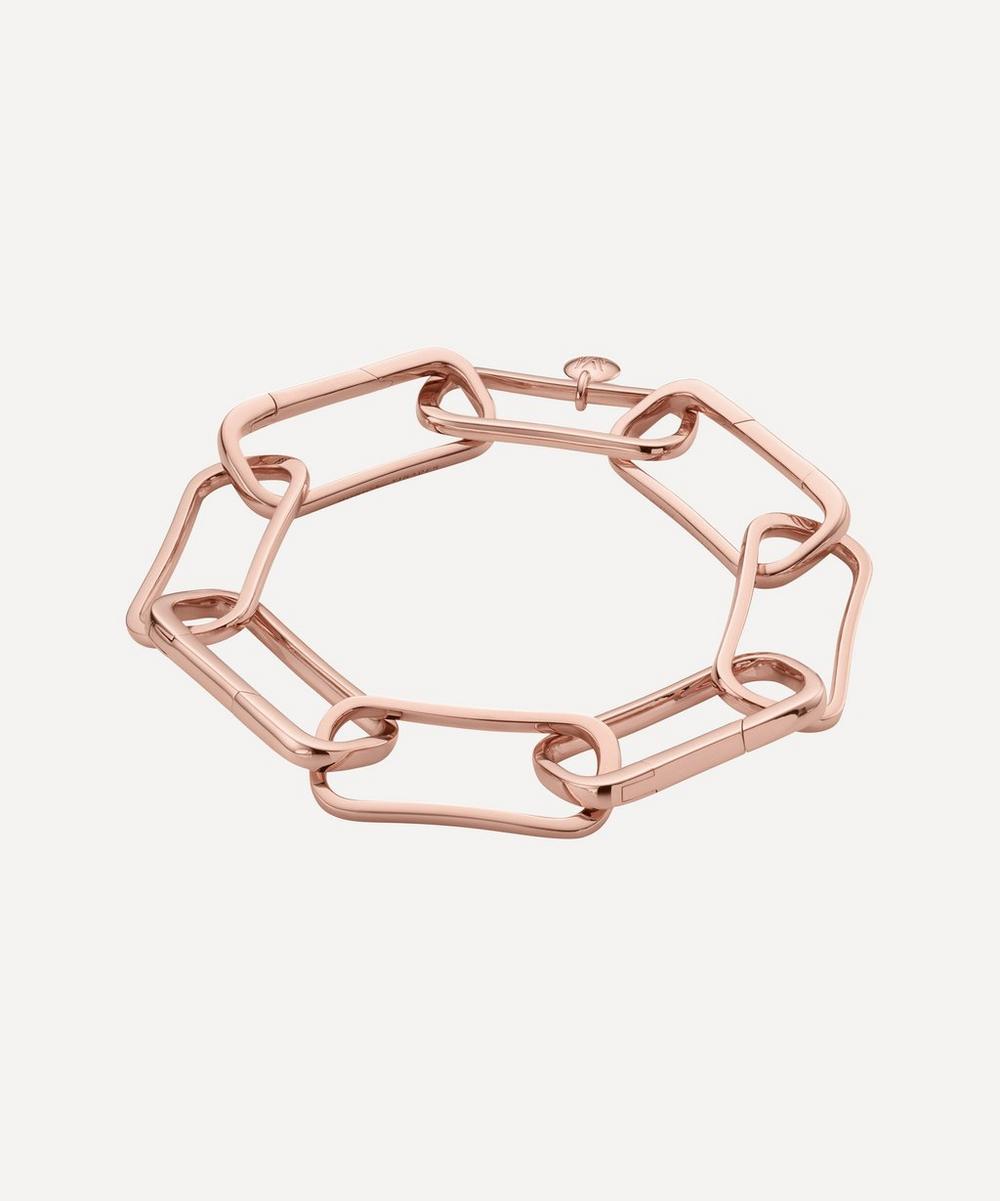 Rose Gold Plated Vermeil Silver Alta Capture Large Link Charm Bracelet