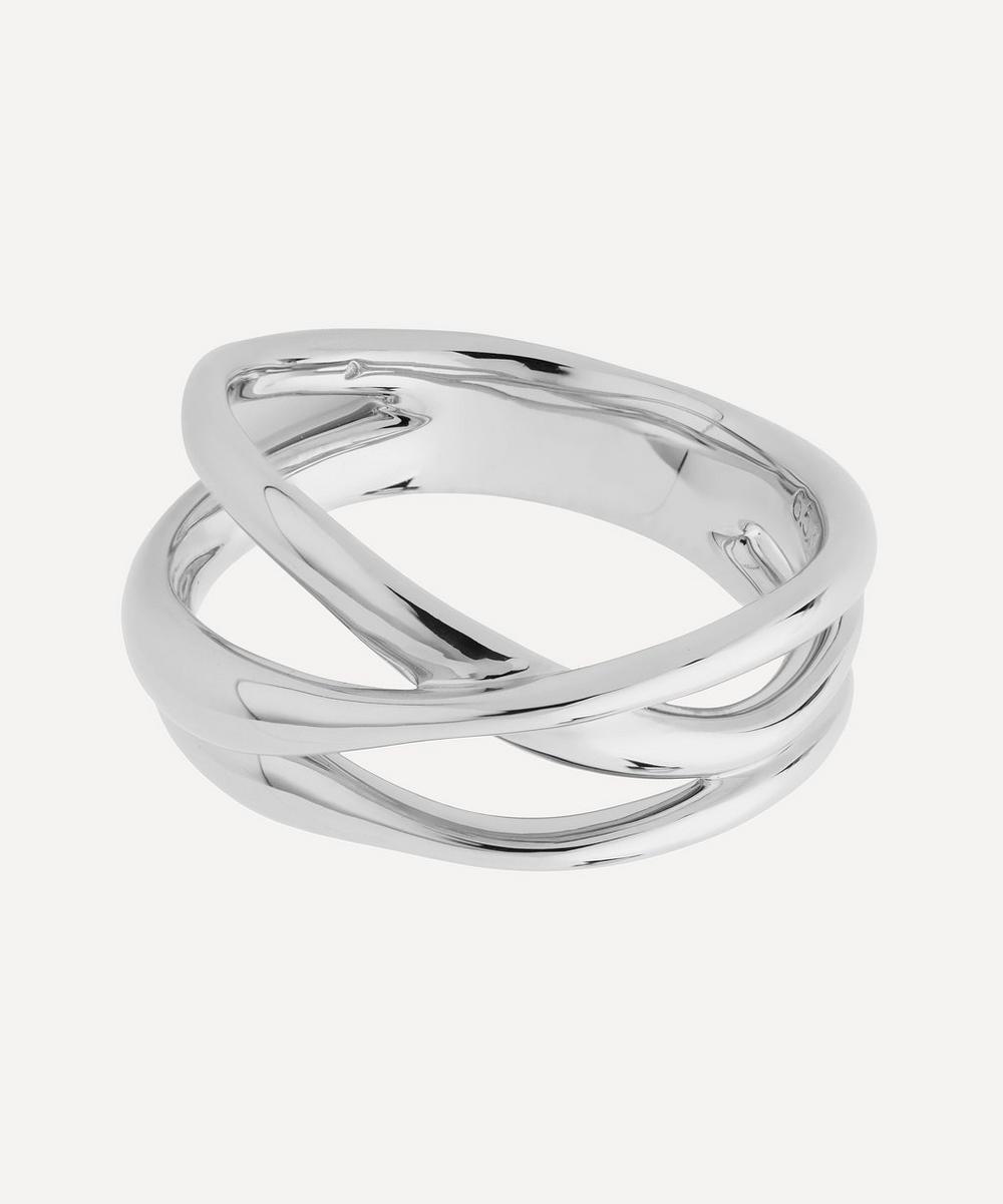 Silver Nura Cross Over Ring
