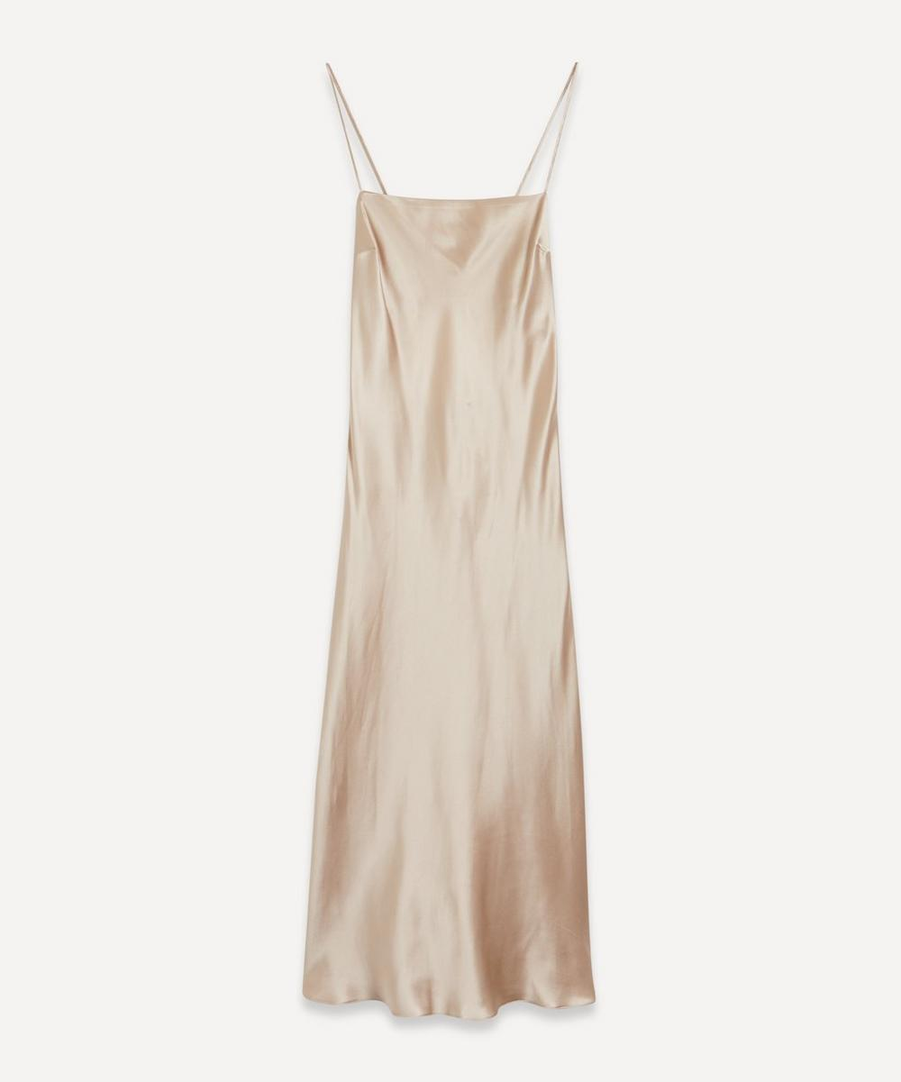 Open-Back Silk Slip-Dress
