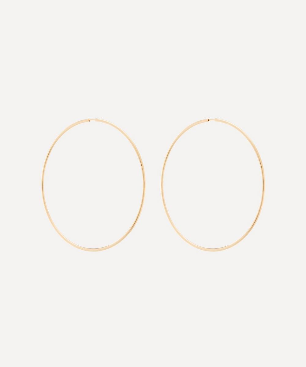 Gold-Plated Senorita 70 Hoop Earrings