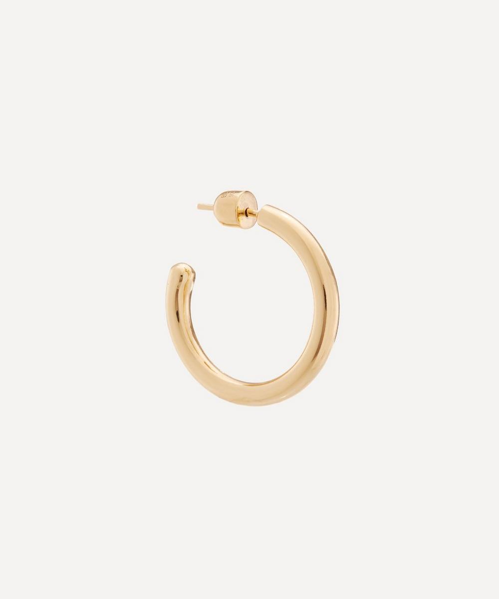 Gold-Plated Ruby 28 Hoop Earring