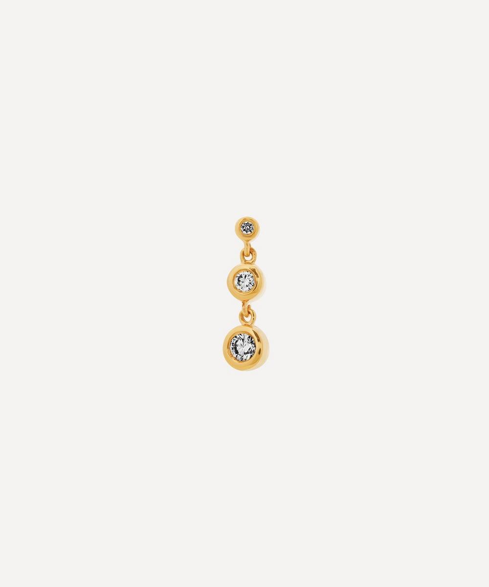 Gold Chandelier Diamond Stud Earring