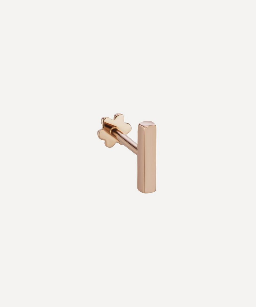 7mm Polished Square Bar Threaded Stud Earring