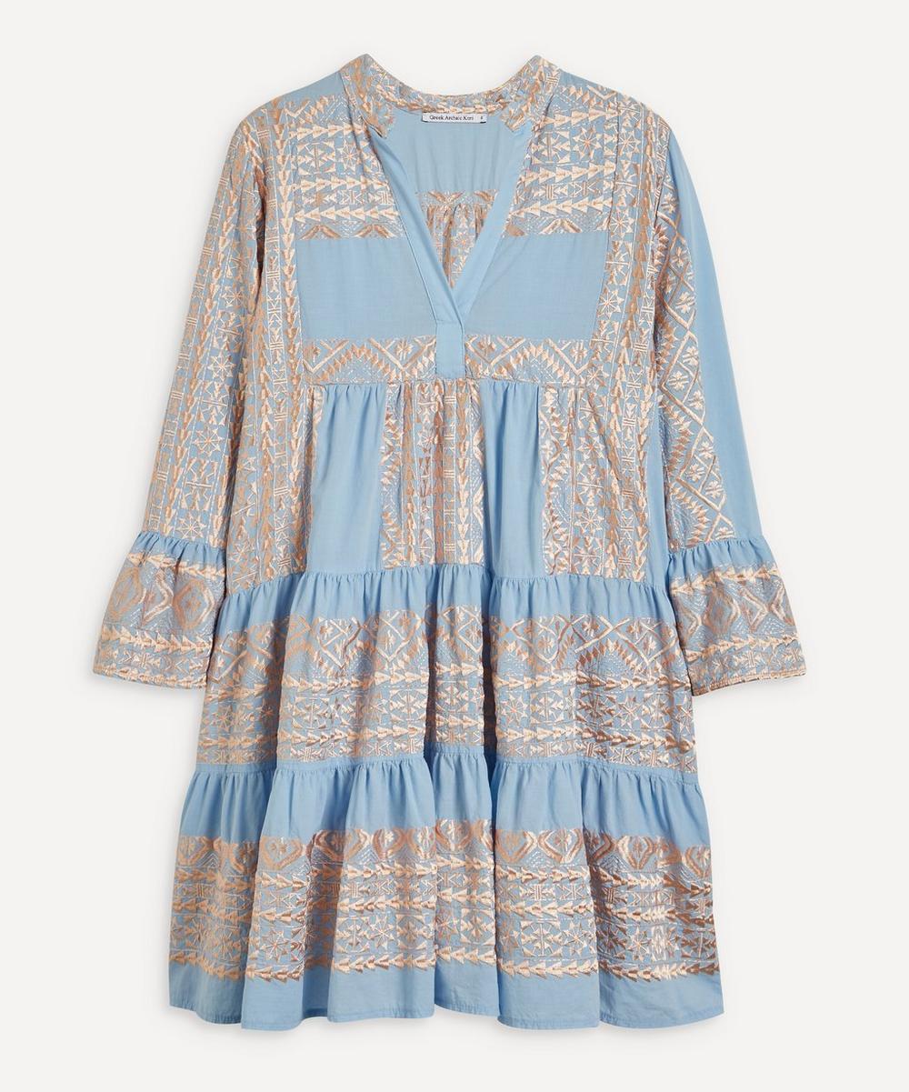 Embroidered Mini-Dress