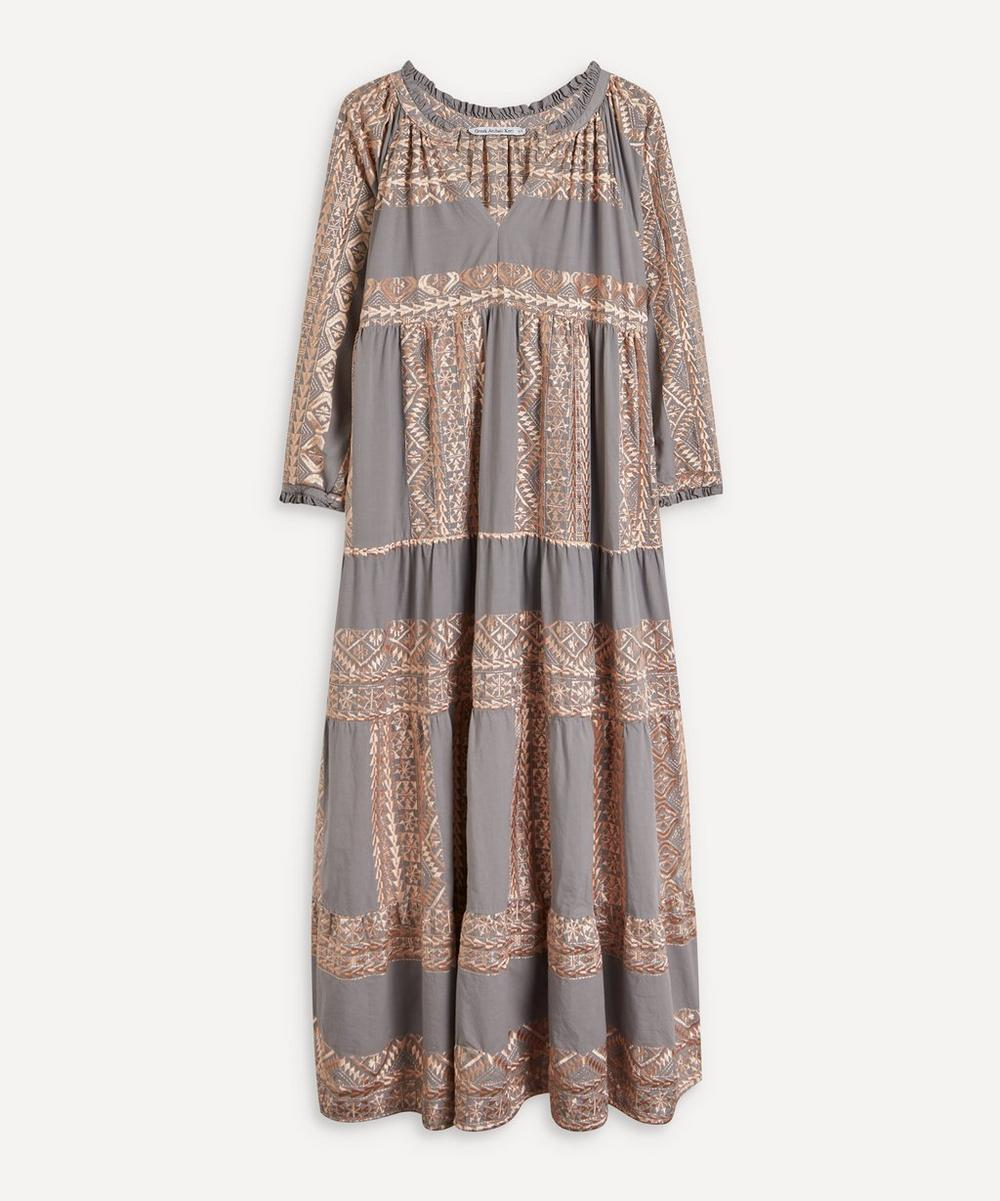 Embroidered Maxi-Dress