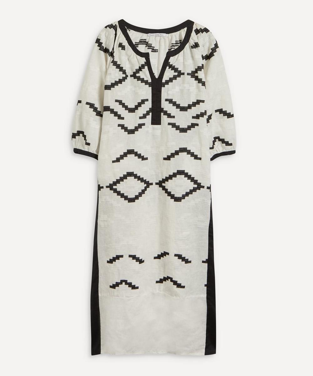 Rhombus Patterned Maxi-Dress
