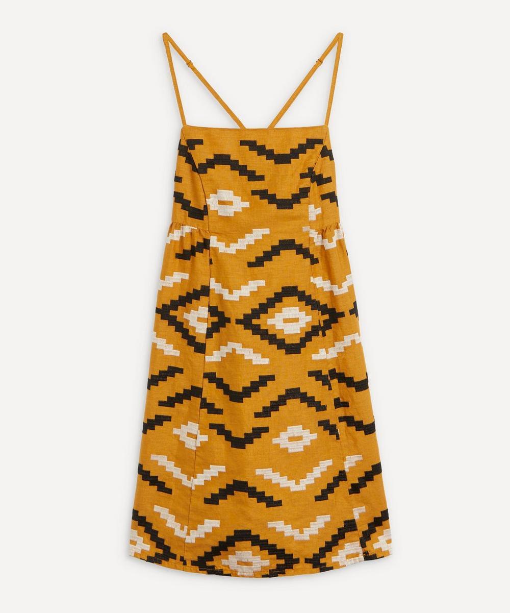 Rhombus Pattern Mini-Dress