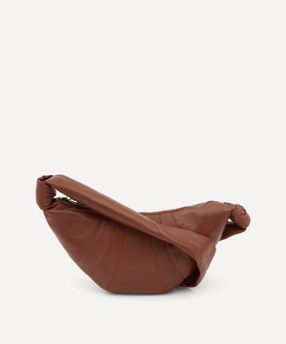 Small Leather Croissant Shoulder Bag