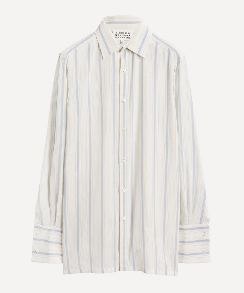 Frayed-Edge Stripe Shirt