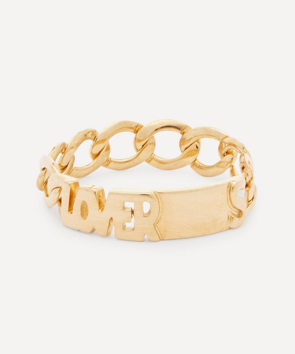 Gold-Plated Lovers Ring