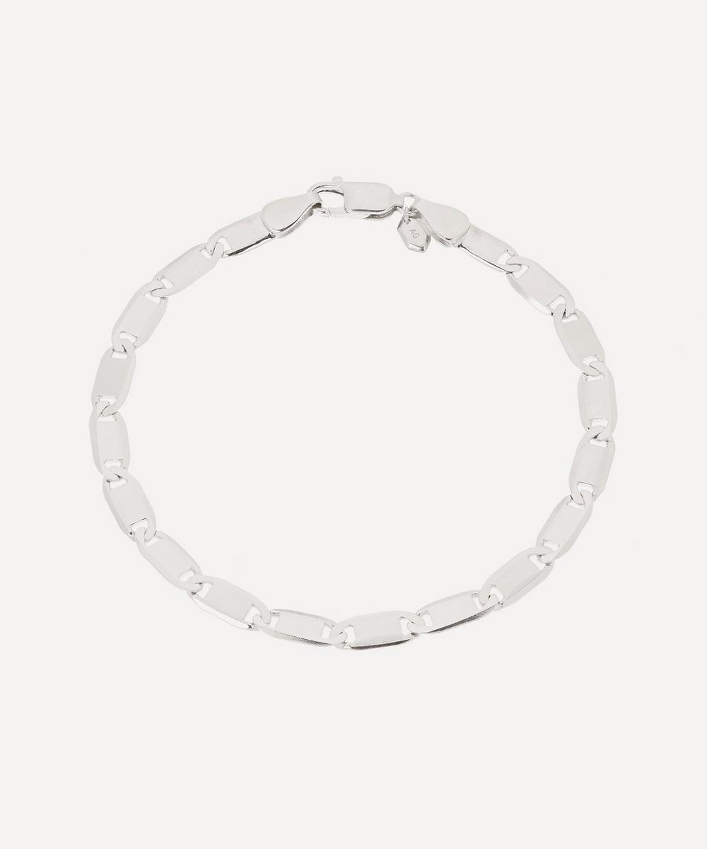 Rhodium-Plated Sterling Silver Medina Chain Bracelet