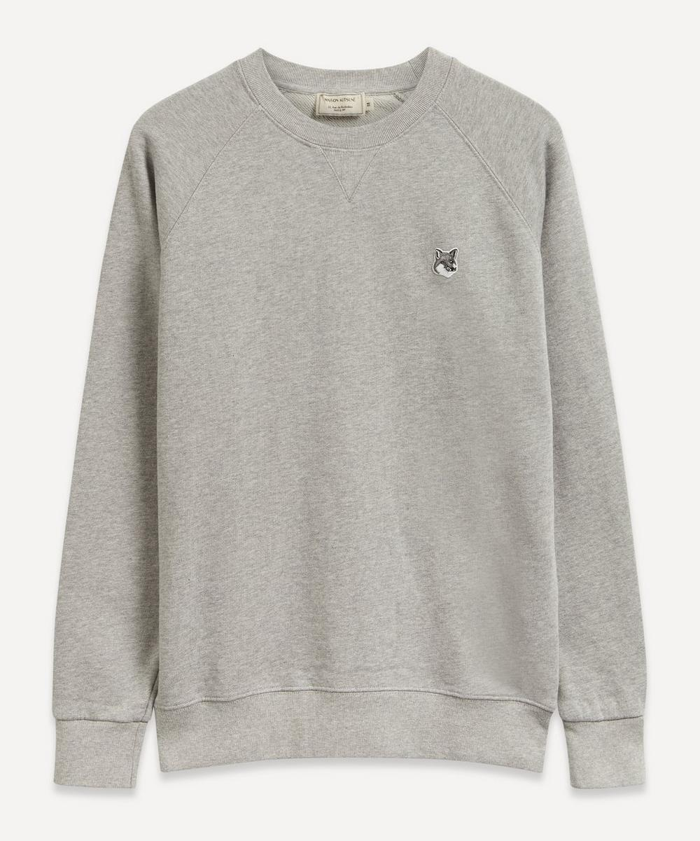 Grey Fox Head Patch Sweatshirt