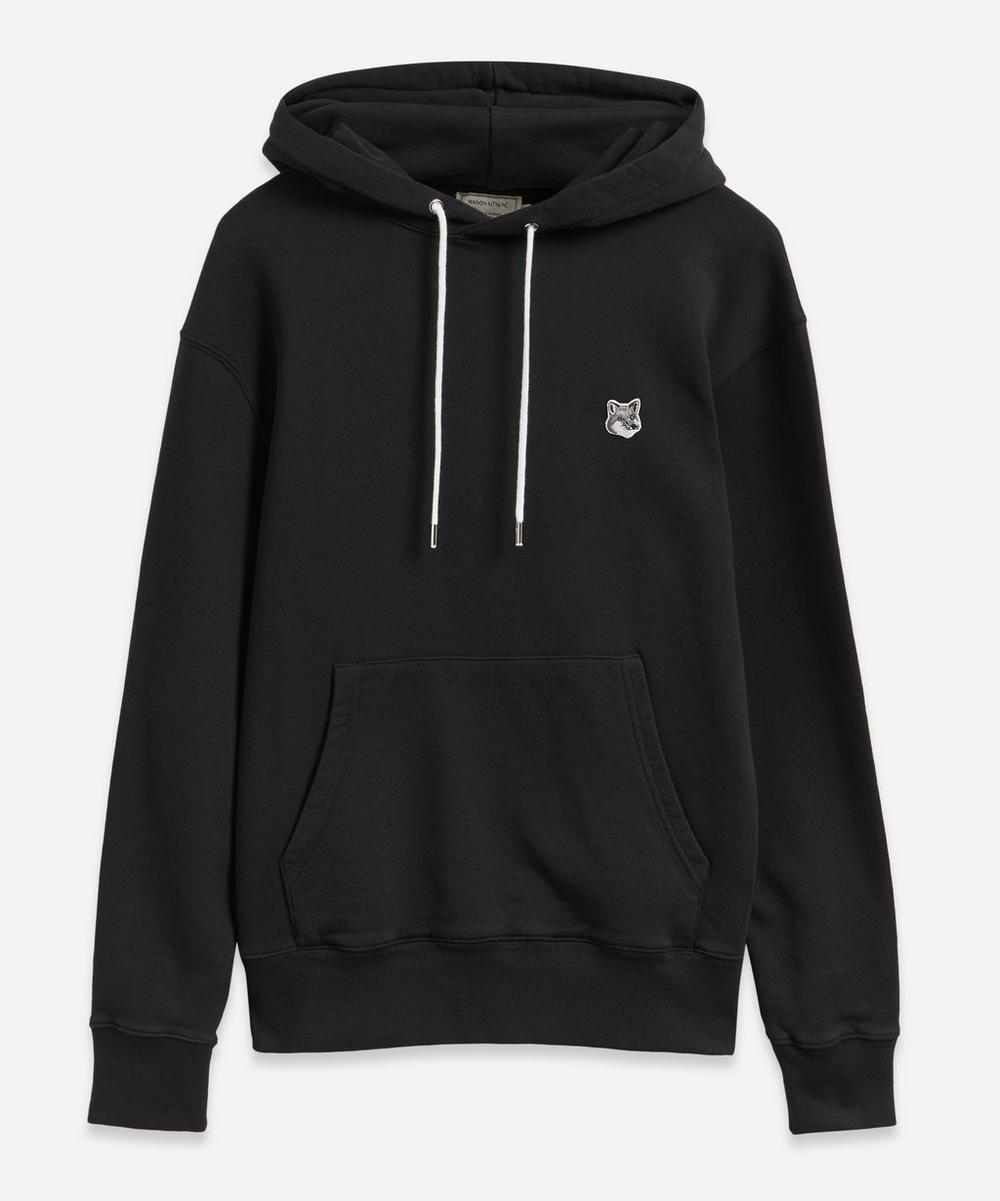 Grey Fox Head Patch Hoodie