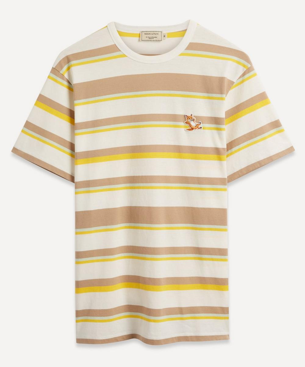 Chillax Fox Patch Striped T-Shirt