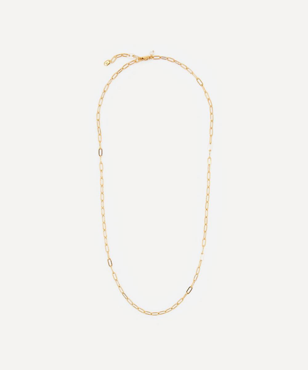Gold-Plated Gemma Chain Necklace