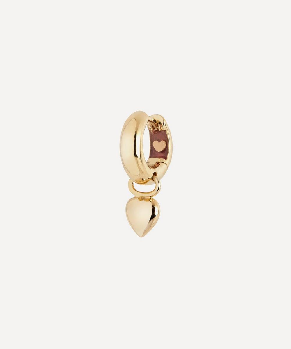 Gold-Plated Aya Huggie Hoop Earring