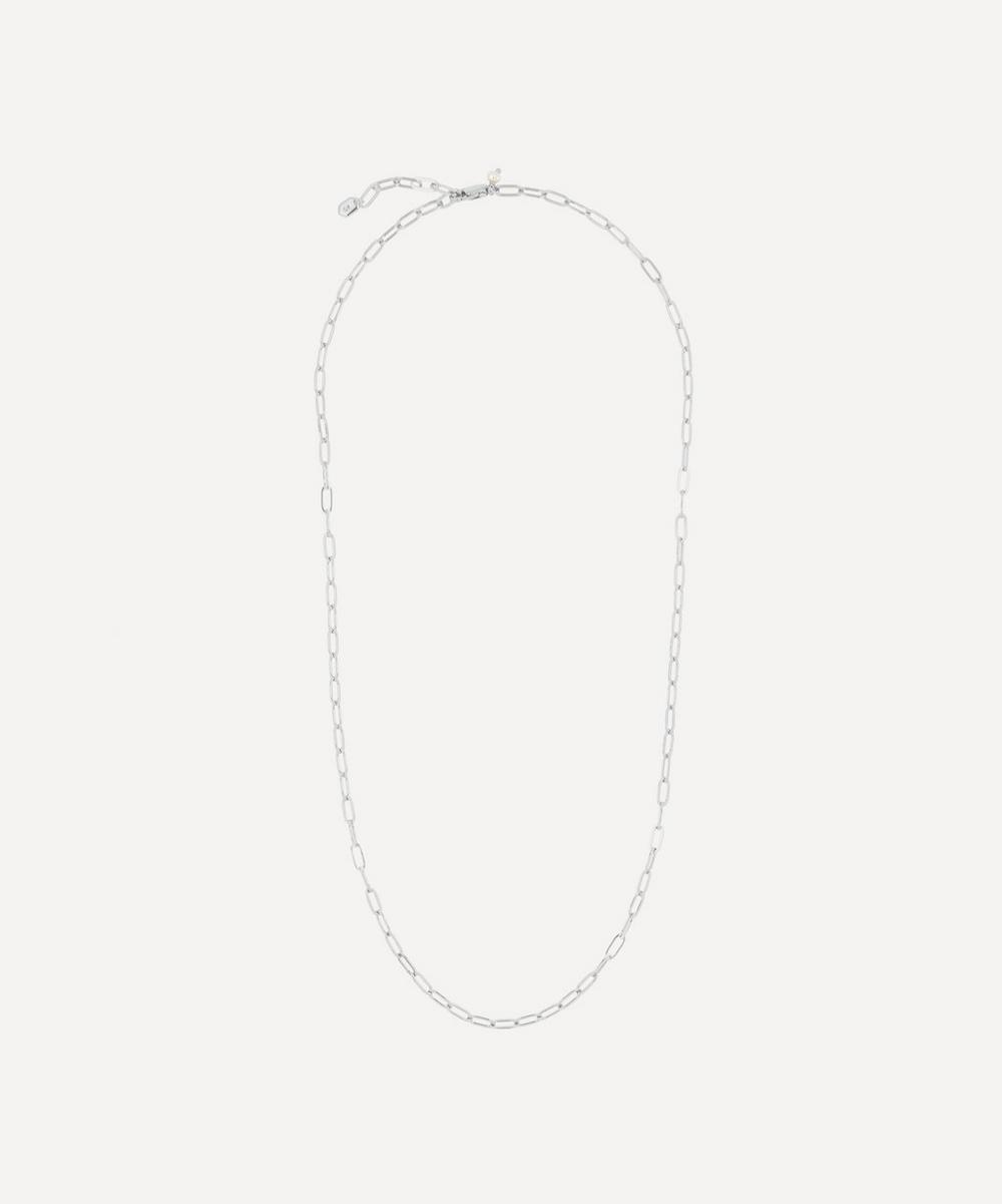 White Rhodium-Plated Gemma Chain Necklace