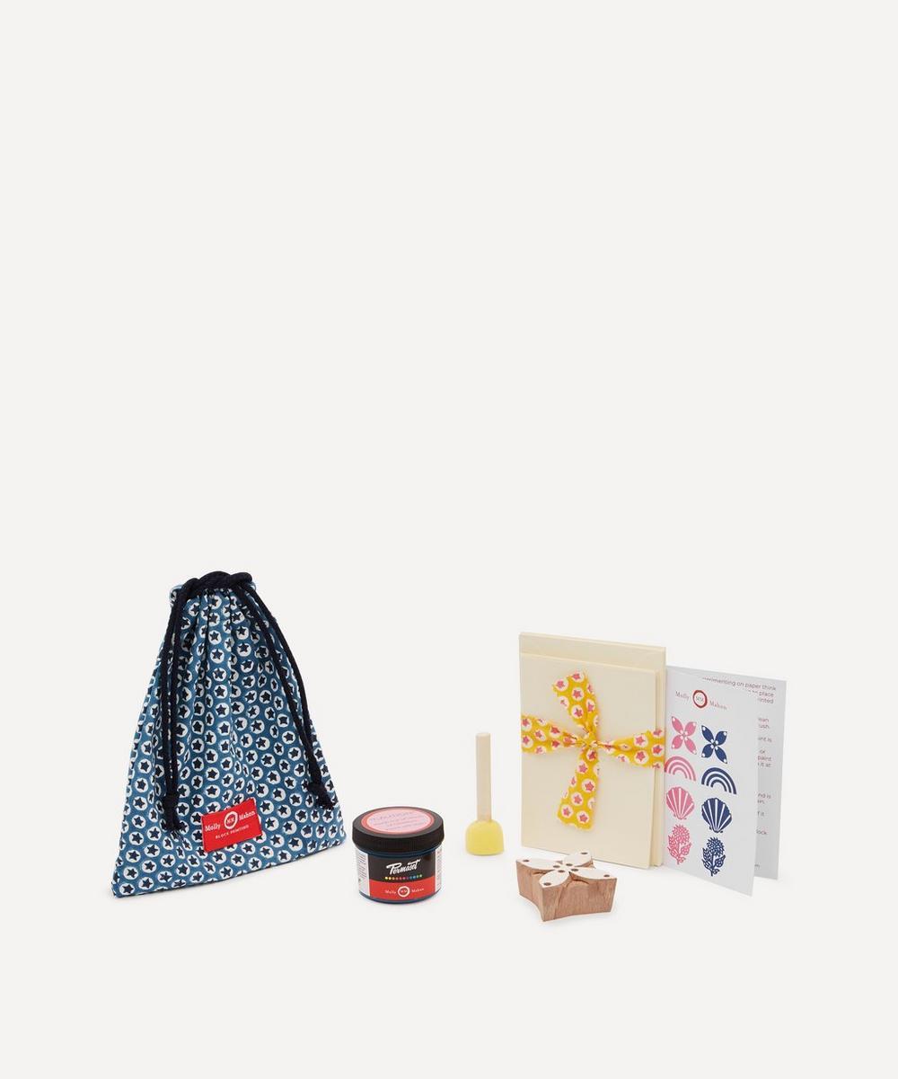 Card Block Print Kit Petal Indigo