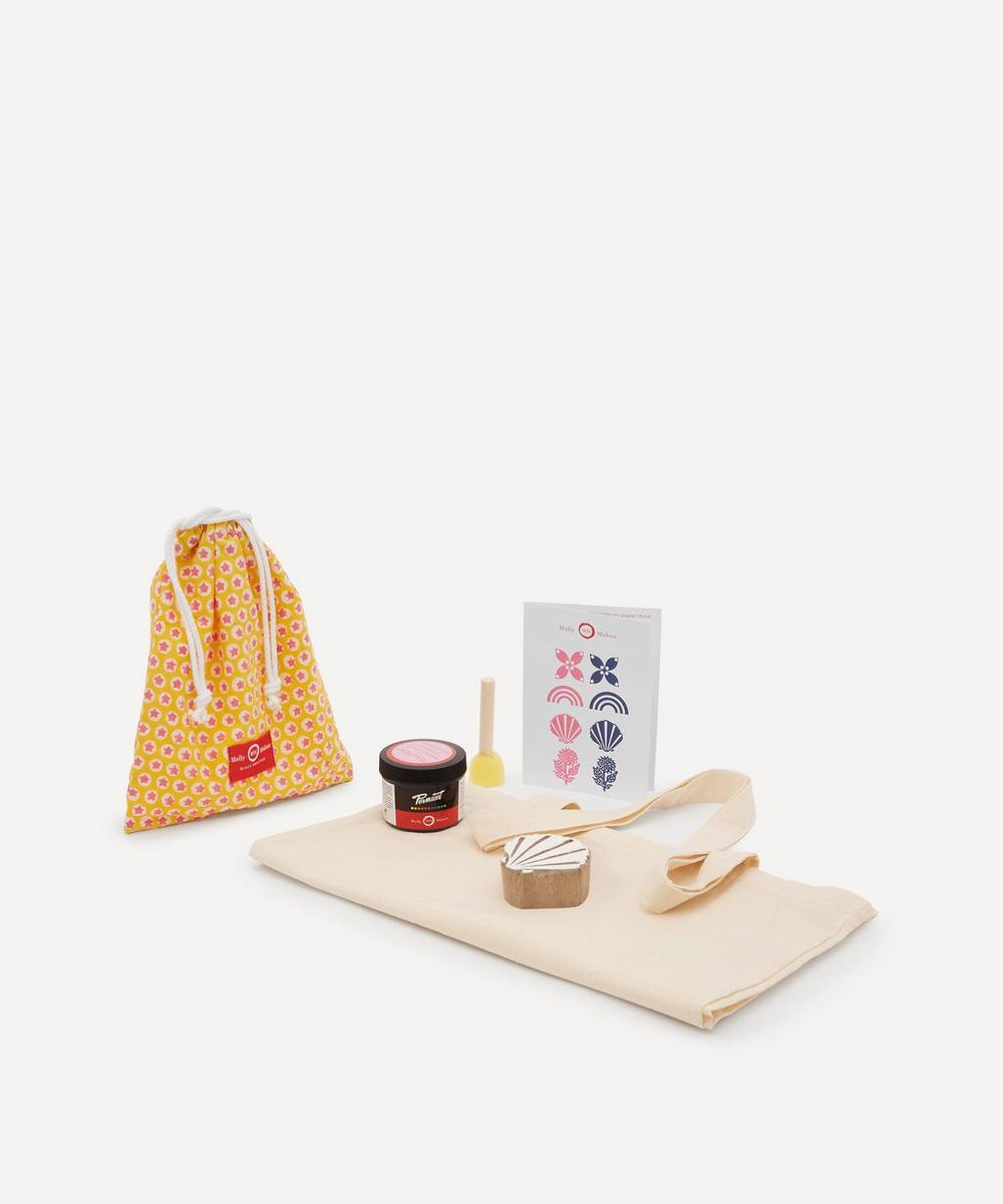 Tote Block Print Kit Shell Indigo