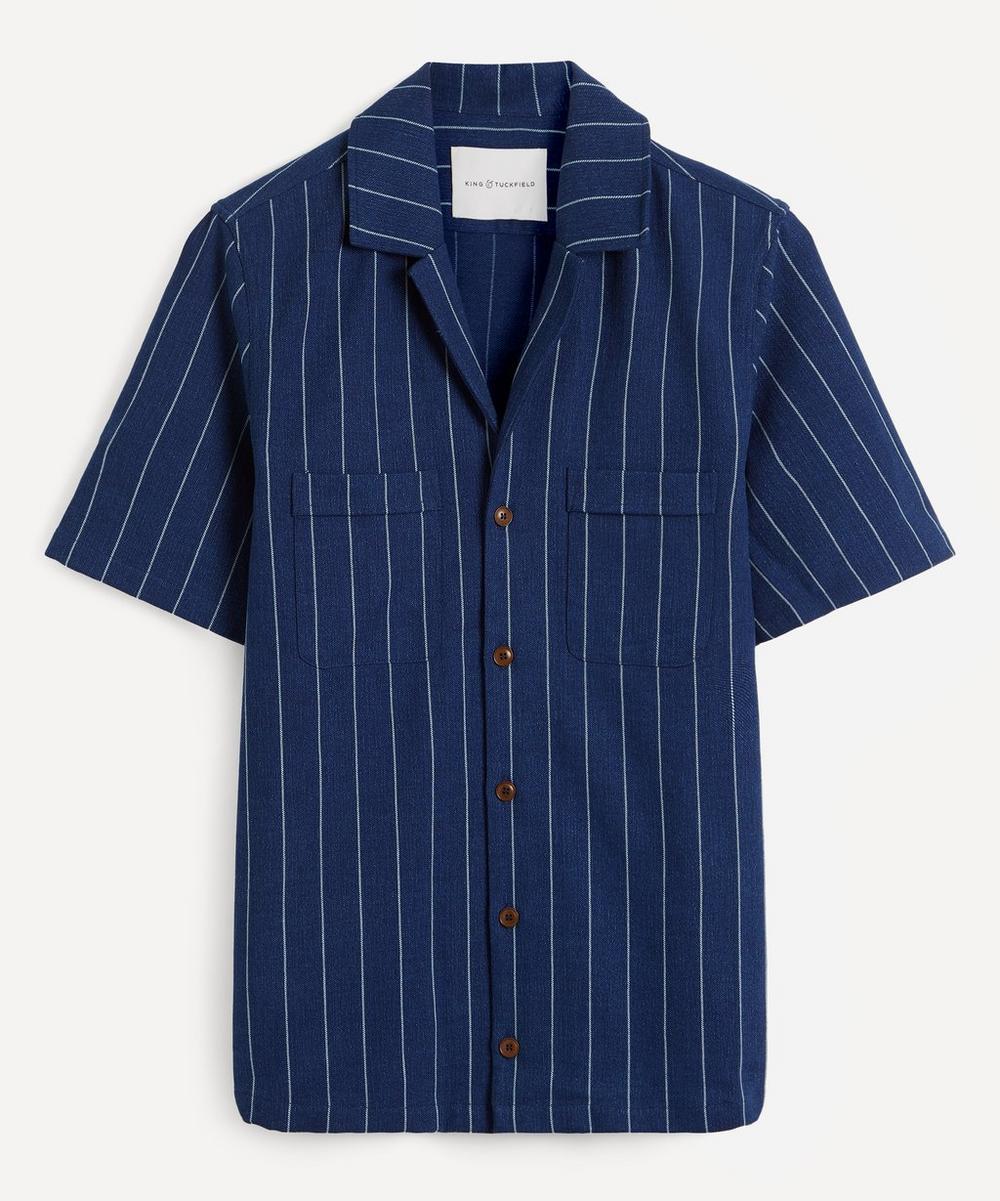 Pinstripe Chambray Bowling Shirt