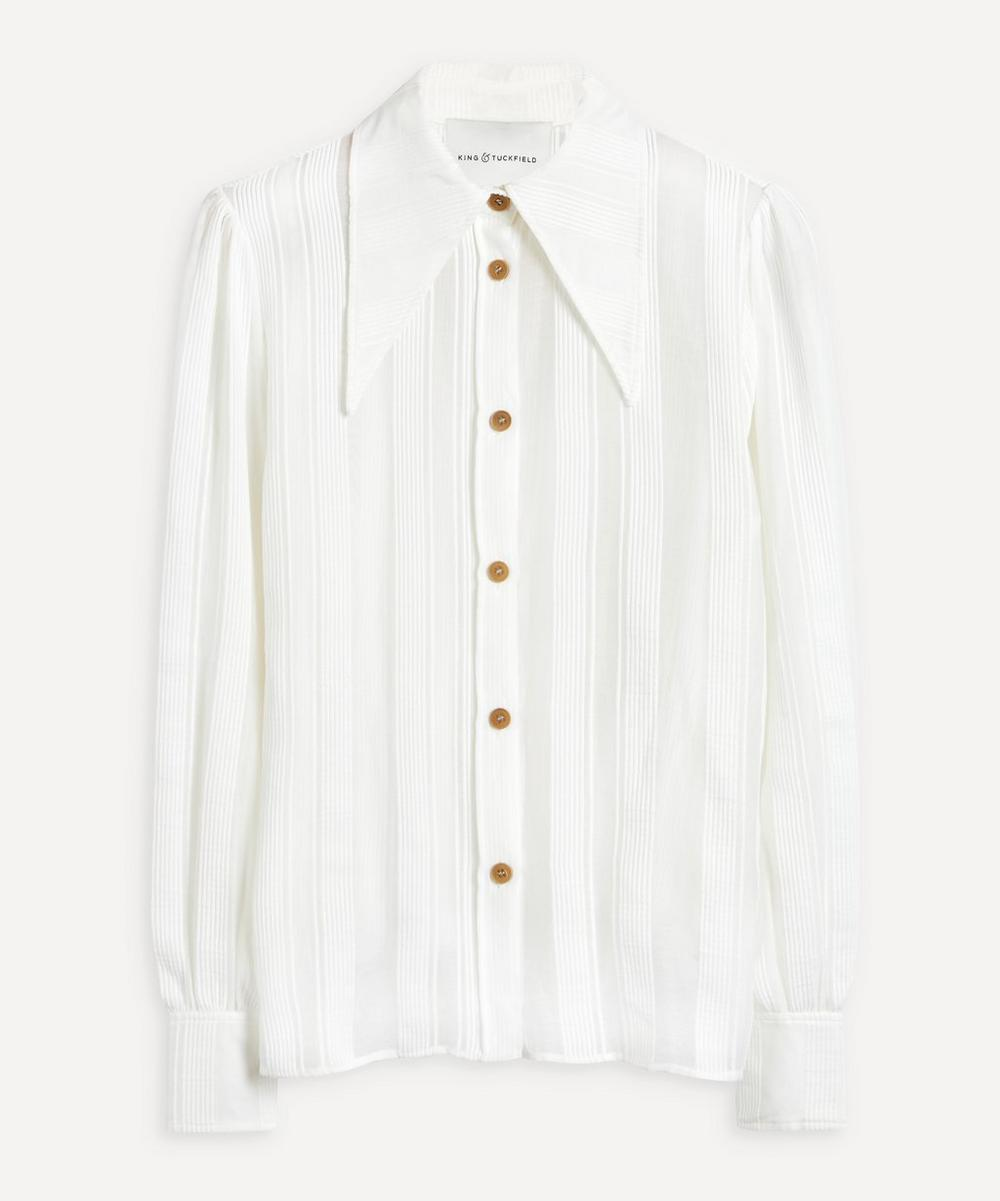 Stripe Cotton-Silk Shirt