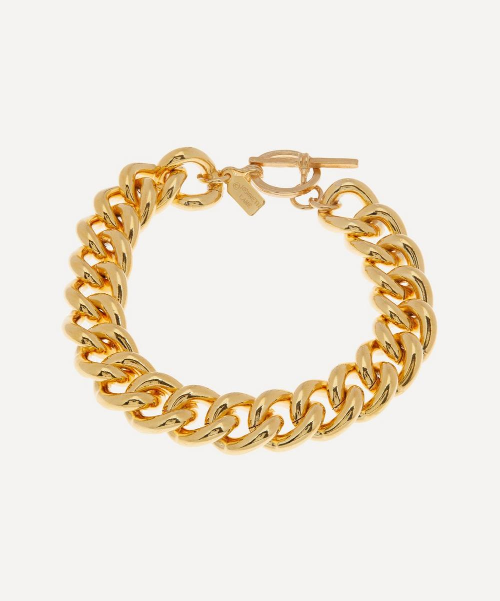 Gold-Plated Curb Chain Bracelet