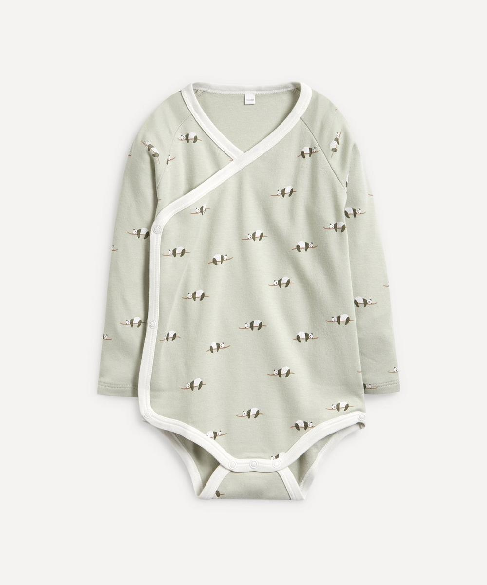 Panda Kimono Long-Sleeve Bodysuit 0-24 Months