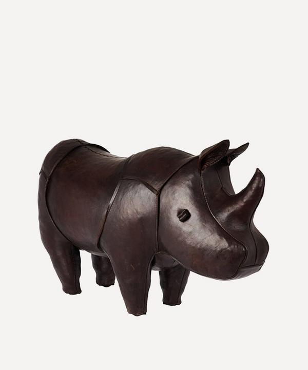 Standard Leather Rhino Footstool