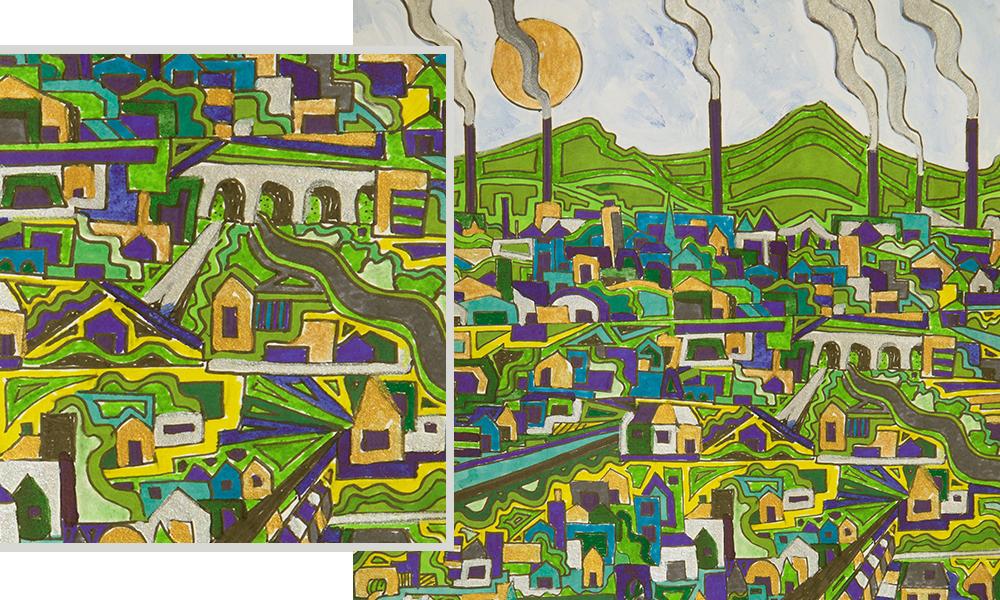 Duncan Grant, Illustration, Green Town
