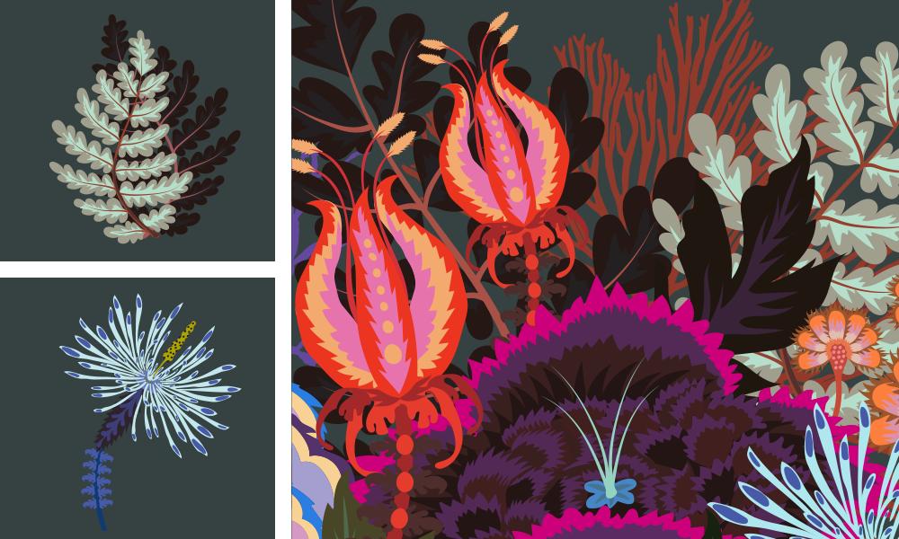 Natasha Coverdale, Graphic Design, Midnight in Jupiter Garden