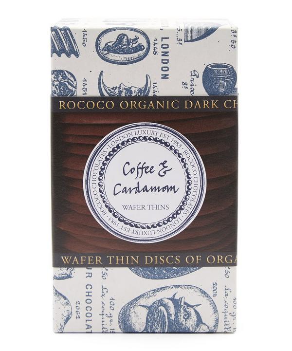 Dark Chocolate Coffee & Cardamom Wafers