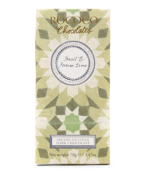 Basil & Persian Lime Organic Dark Chocolate 70g