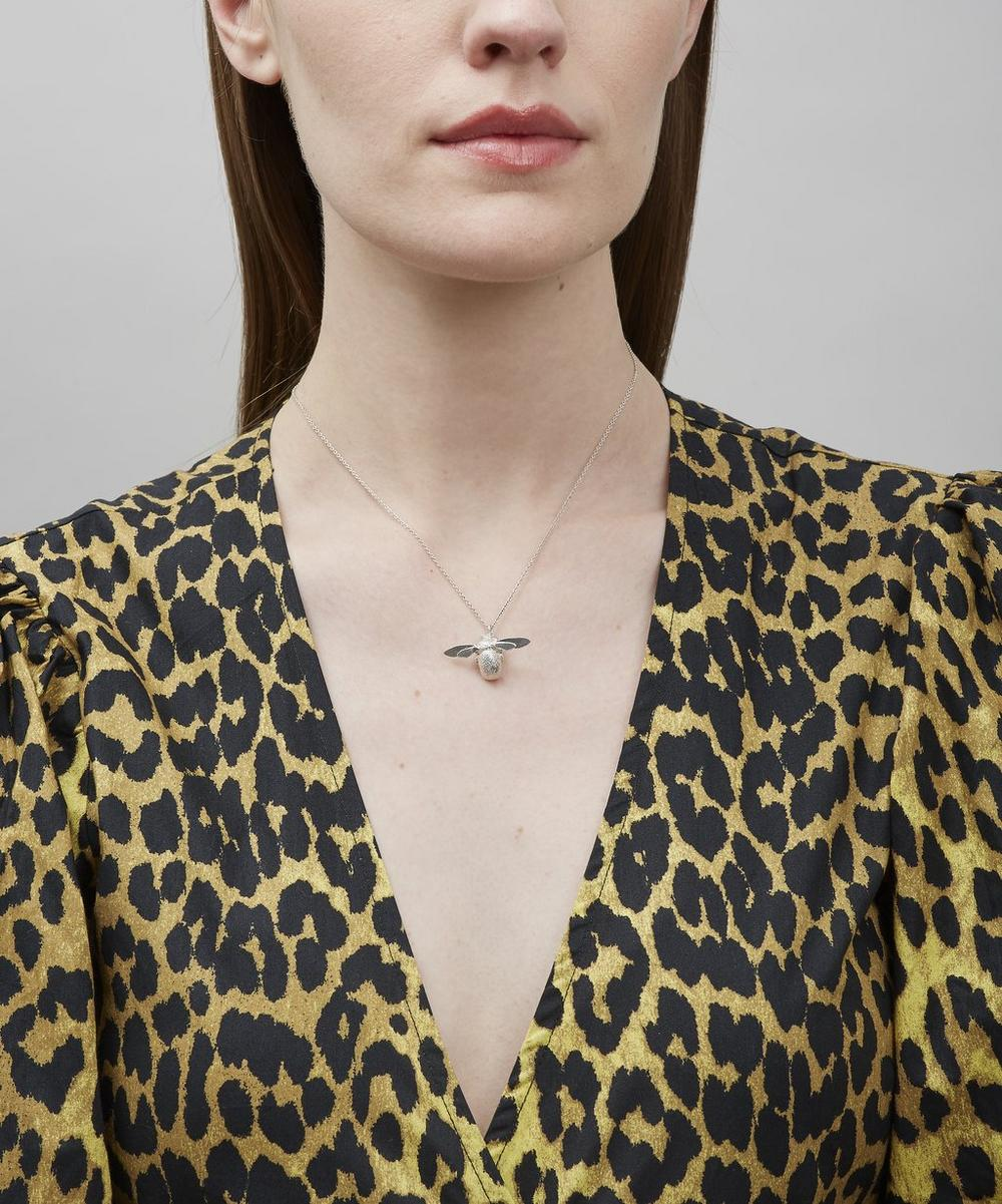 Silver Bumblebee Necklace