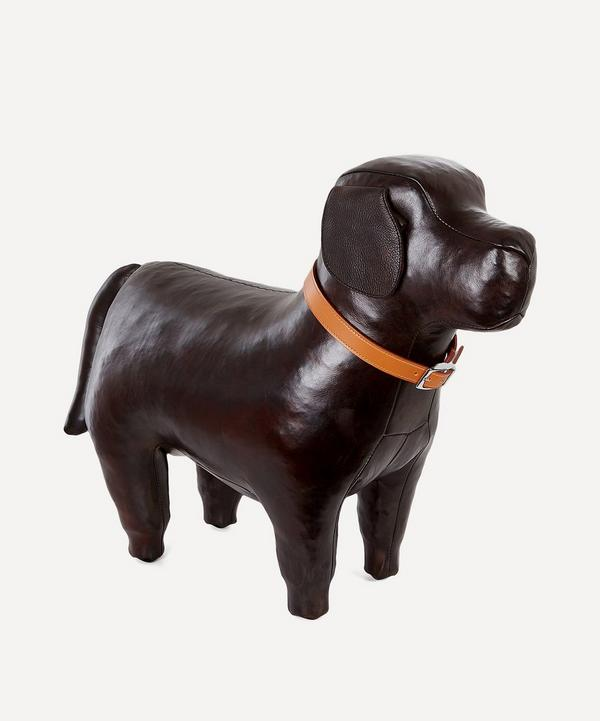 Medium Leather Labrador Footstool