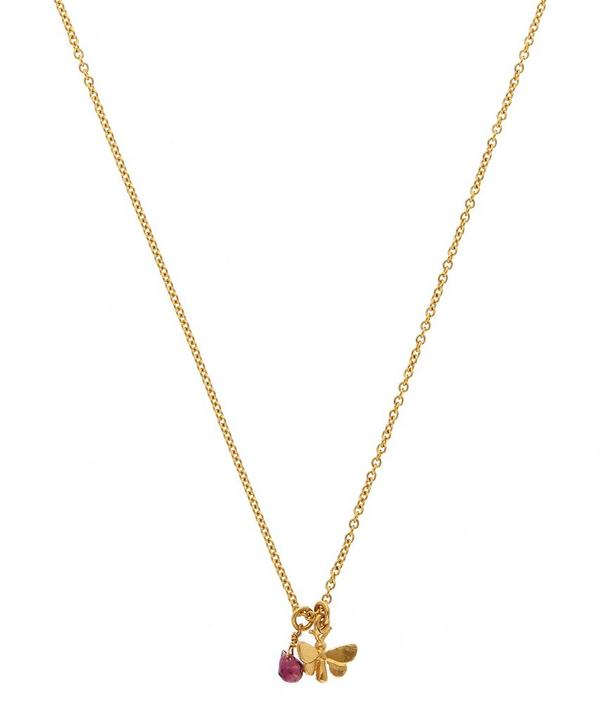 Gold-Plated Tiny Butterfly Necklace
