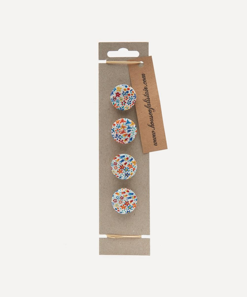 Assorted Floral Fabric Buttons