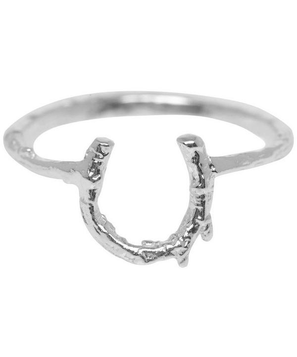 Silver Baby Horseshoe Ring