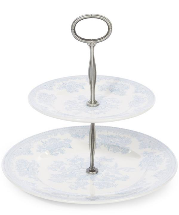 Asiatic Two Tier Cake Stand=